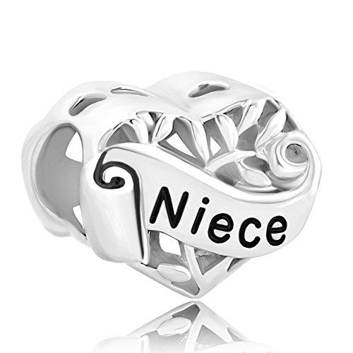 Charmed Craft–Plata de Ley 925Colgante con forma de corazón I Love You mi esposa charms Beads para pulseras de cadena de serpiente