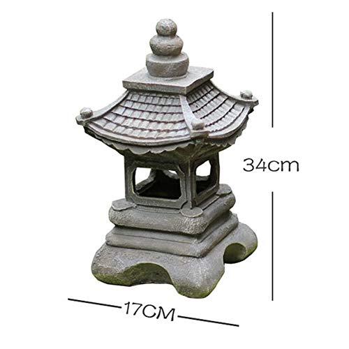 Estilo Japonés Solar Jardín Estatua,Zen Al Aire Libre Césped Luces Linterna,lámpara Pagoda Estatua,Palace Light Paisaje Decoración Escultura A