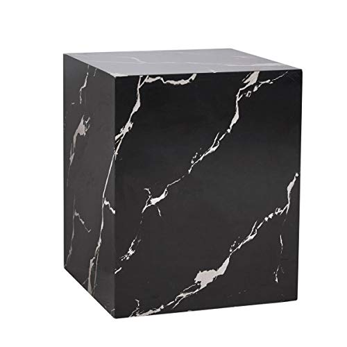 Pureday Beistelltisch Cube - Couchtisch in Marmor-Optik - MDF