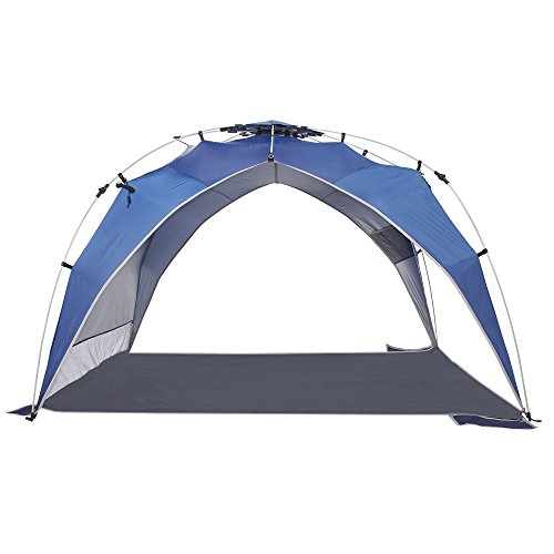 Lightspeed Outdoors Quick Canopy Instant Pop Up Shade Tent, Blue