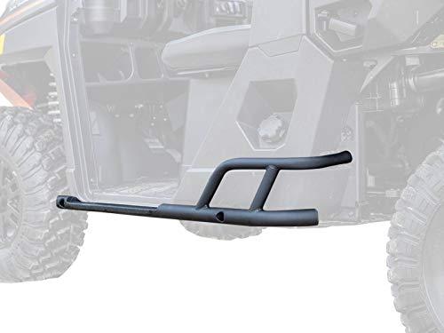 SuperATV Heavy Duty Rock Sliding Nerf Bars for 2018+ Polaris Ranger Full Size XP 1000 (See Fitment) - Wrinkle Black
