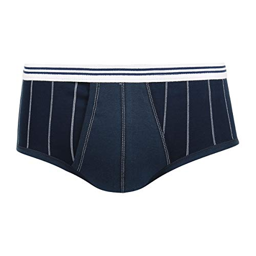Eminence Herren Pur Coton Slip Taille Haute Ouvert Unterhose, blau, Small