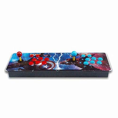 Consola de videojuegos Arcade 3D, Pandora Box 5s Multiplayer Home Joystick Arcade Console, Botones personalizados, 1280x720 Full HD Connect con VGA y HDMI