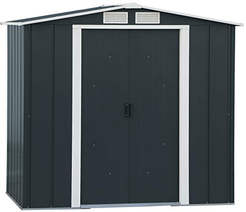 Duramax ECO 6' x 4' Hot-Dipped Galvanised Metal Garden Shed