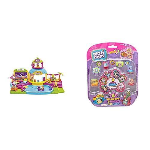 MOJIPOPS - Pool Party con 2 exclusivas figuras MojiPops y variedad de accesorios + Blister 8 figuras (6 figuras MojiPops y 2 exclusivas figuras Glitter) , color/modelo surtido