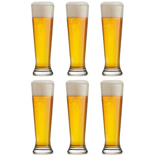 Libbey Bierglas Bockbier - Lagerglas - 300 ml / 30 cl - 6 Stück - Geeignet für Bockbier und Spezialbier - Spülmaschinenbeständig