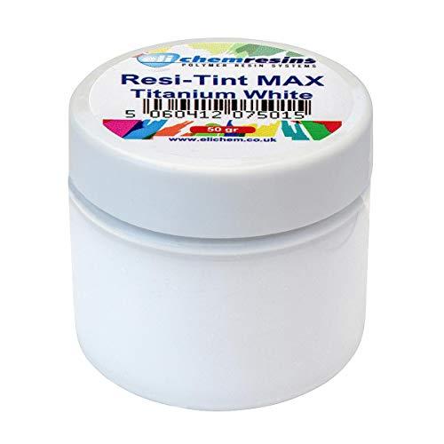 resi-TINT MAX, 50 gr, (Titanium White) Titan Weiß, Farbpaste, Epoxidharzfarbe, Resinfarbe, hochpigmentierte Farbe