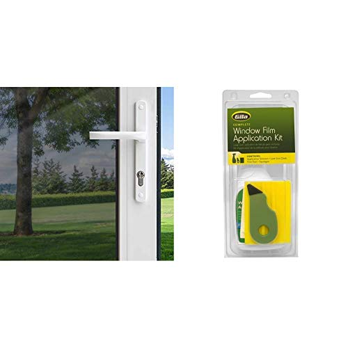 Gila Heat Control Platinum Adhesive Residential DIY Window Film Sun Blocking Glare Reduction 3ft x 15ft (36in x 180in) & RTK500 06008001427 Window Film Complete Installation Kit, 1-Pack