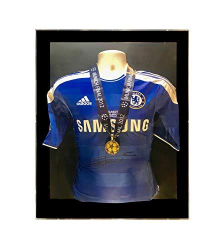 Didier Drogba handsigniertes Trikot der Chelsea Champions League und Siegermedaille