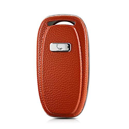 HEZHOUJI Auto Chiave Case, Custodia per chiave per auto, portachiavi, per Audi A4 A4l A5 A6 A6l Q5 Rs7 S7 A7 A8 Q5 S5 S6 Shell Accessorio per lo styling remoto, arancione se