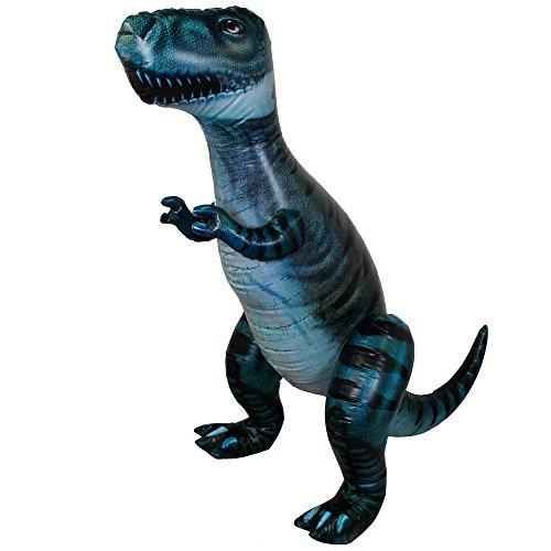 I LOVE FANCY DRESS LTD - Puntello gonfiabile gigante T-Rex – 243 cm di lunghezza dalla cima alla coda – Dinosauro blu – perfetto per feste dei bambini (confezione da 1)