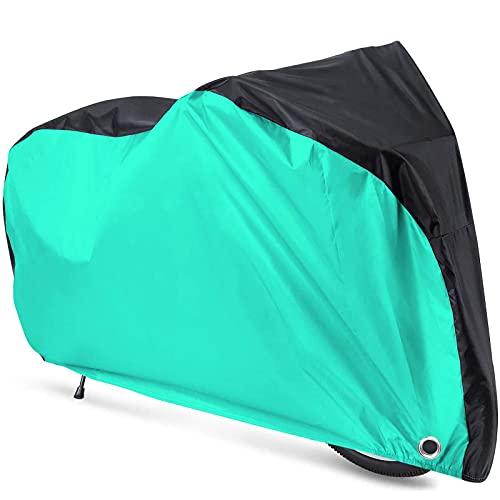 Funda Bicicleta Exterior Impermeable, 190T De Nylon Cubierta Protector Al Aire Libre contra Lluvia Sol Polvo (Lago Verde,XL)