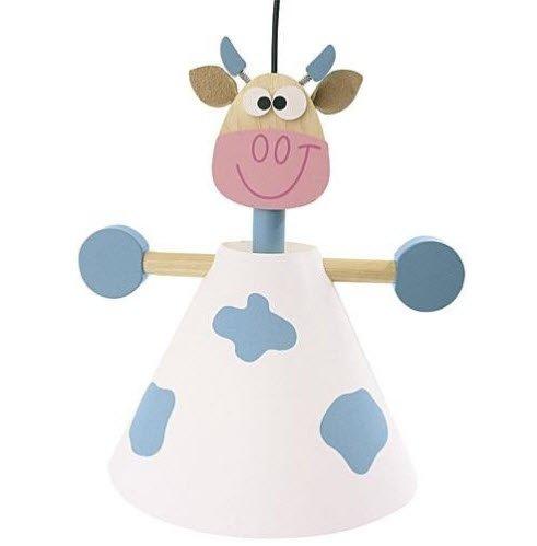 Motif vache Scratch Europe Childs 'lampe Bleu