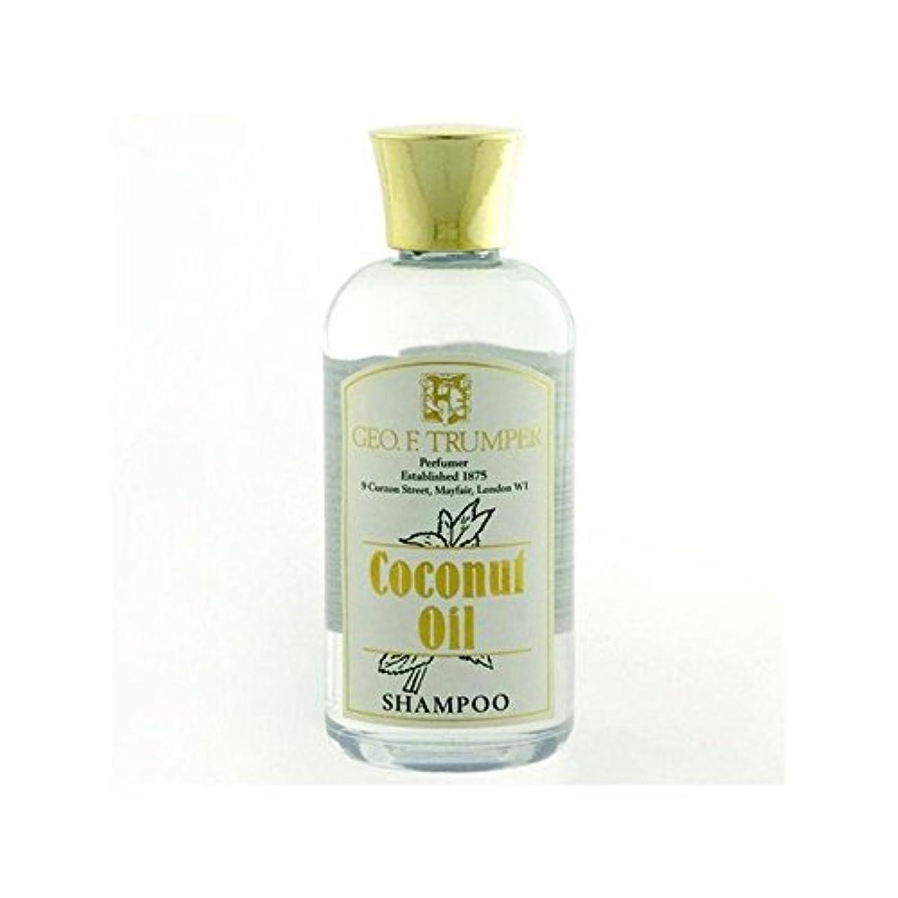 パッケージ実行する生ココナッツオイルシャンプー - 100ミリリットル旅 x4 - Trumpers Coconut Oil Shampoo - 100ml Travel (Pack of 4) [並行輸入品]