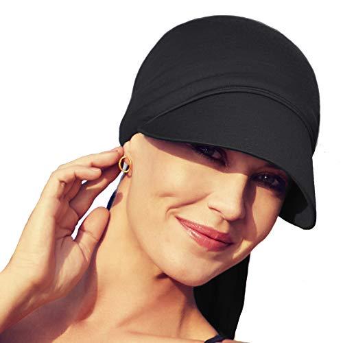 Christine Headwear Gorra oncológica Ultra transpirante Bianca con Visera y Technology 37.5® para Mujeres en Tratamiento con quimioterapia (marrón arenoso)