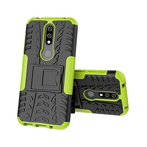 GH-GHawk G-Hawk Shock Prova Dual Layer Armour Ibrida Custodia per Nokia 4.2,[Heavy Duty Protezione] [Dual Layer] Difficile Silicone Kickstand Ibrida Case