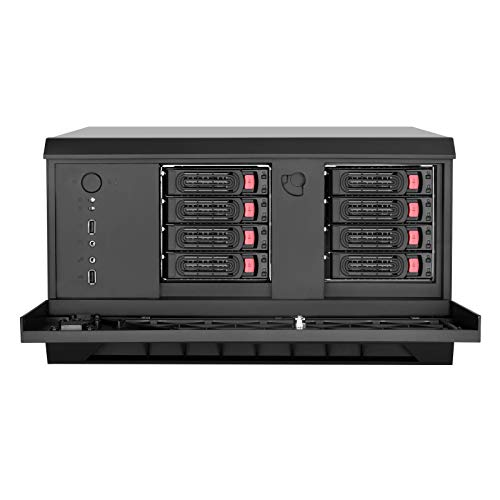 SilverStone Technology CS381B Micro-ATX/Mini-DTX/Mini-Itx 8 Bay Hot Swap 2.5