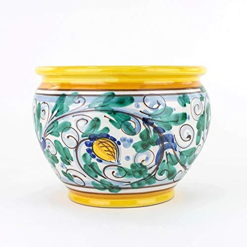 Cache-Pot Porta Vaso Diametro cm 18 in Ceramica Fatto a Mano