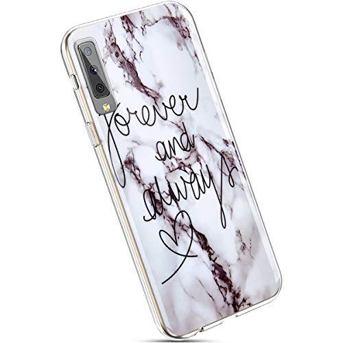 Ysimee Compatible avec Samsung Galaxy A70 Coque Miroir Etui en Gel Silicone Souple Case Housse de Protection avec Anneau Support Paillette Diamant Strass Bling Etui Ultra Mince Flexible Cover,Argent