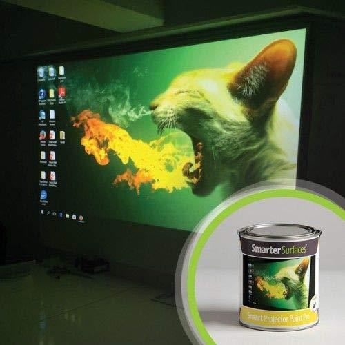 Smart Projektionsfarbe Pro 6m² Weiß - 4K Beamer Farbe - Leinwandfarbe - Betrachtungswinkel 140° - Verstärkungswert von 1.1