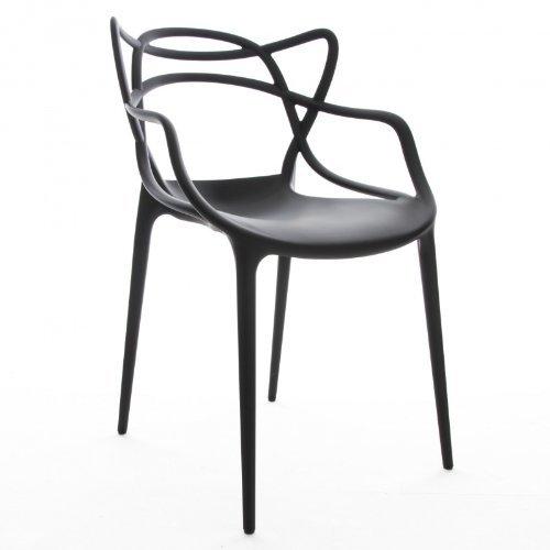 Kartell 586509 Stuhl Masters, schwarz