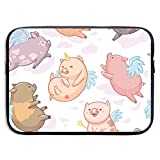 15 Inch Laptop Sleeve Briefcase Cartton Smile Pigs Neoprene Waterproof Handbag Protective Bag Cover Case for Surface Laptop/Notebook/Acer/Asus/Dell/Lenovo/iPad/Surface Book