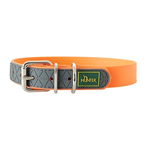 Hunter 63143 Convenience - Collare per Cani , Neon Arancione, 50 cm, 1 Pezzo