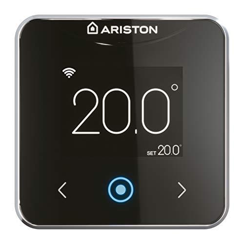 Ariston 3319126 Termostato inteligente Wifi Cube S Net cableado, Negro, Fabricado para ser instalado en España