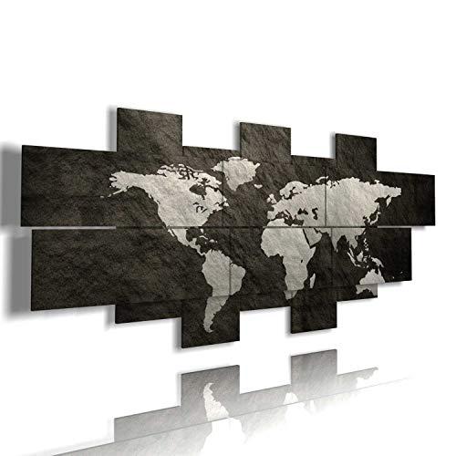duudaart Quadro Mappa Mondo Moderno 3D multilivello Quadri Astratti Poster