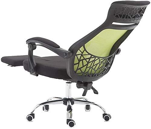 Silla de oficina, silla giratoria ergonómica, silla reclinable, ordenador de elevación 360º, silla giratoria con reposapiés, silla ejecutiva, capacidad nominal: 550 kg (color: Green)