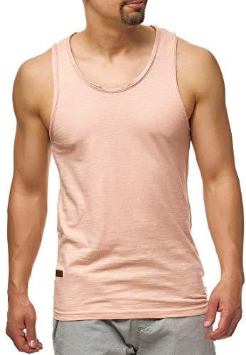 Indicode Herren Inn Tank-Top aus 100{b66ba65ee13f76d784334352bdcdbd9aff6057ca1a916785eeb005c99a5cfd33} Baumwolle | Regular Fit Herren-Shirt Rundhals Sport Fitness Muskelshirt Training Achselshirt ärmellos Freizeit Shirt Unterhemd für Männer Cameo Rose XXL