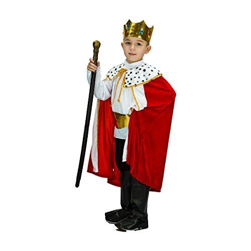 SEA HARE Disfraz Infantil de Rey con Túnica y Corona