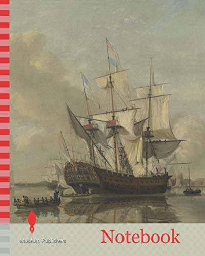 Notebook: The National Frigate Rotterdam on the Meuse near Rotterdam Still Water, The Netherlands, Nicolaas Baur, 1807