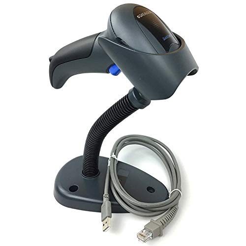 Datalogic QD2430 QuickScan Handheld Omnidirectional Barcode Scanner/imager(1-D, 2-D and PDF417) with USB Cable and Stand, Black, QD2430-BKK1S barcode Datalogic scanner