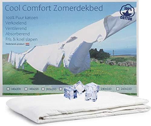 Cool Comfort Zomerdekbed - 100% Katoen (140x200cm)