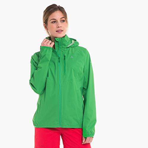 Schöffel Damen wind und wasserdichte Jacke mit Pack-Away-Tasche, island green, 42
