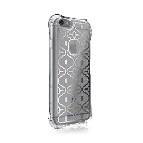 iPhone 6s Case, Ballistic [Jewel Mirage] Six-Sided Drop Protection [Clear w/Silver VM Pattern] 6ft Drop Test Certified Case Reinforced Corner Protective Cover for iPhone 6 / 6s - (JM3345-B19N)