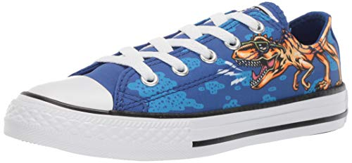 Converse CTAS OX Kinder Sneaker Chuck Unisex Kids Junior Canvas Dino´s Beach Party 664247C, Schuhgröße:35 EU