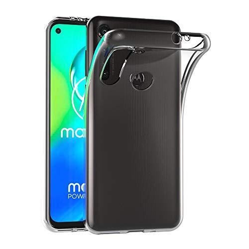 AICEK Hülle Compatible für Moto G8 Power Transparent Silikon Schutzhülle für Motorola Moto G8 Power Hülle Clear Durchsichtige TPU Bumper Moto G8 Power Handyhülle (6,4 Zoll)