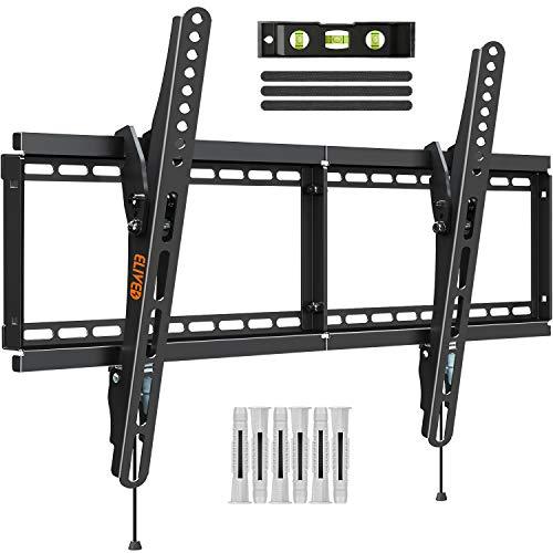 ELIVED TV Wandhalterung Neigarbar Fernseher Wandhalterung für die meisten 37-70 Zoll Flach & Curved LED, LCD, OLED, Plasma TVs bis zu 50kg, mit Max VESA 600x400mm, EV008