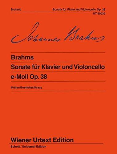Sonate e-Moll: Nach der Originalausgabe. op. 38. Violoncello und Klavier. (Wiener Urtext Edition)