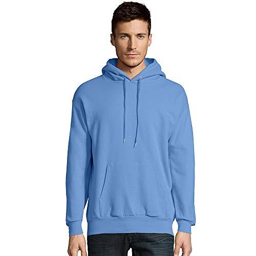 Hanes Unisex EcoSmart 50/50 Pullover Hooded Sweatshirt L Carolina Blue