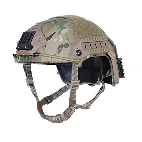 H World Shopping Tactical Adjustable ABS Maritime Helmet Multicam MC, Two Sizes (M/L, L/XL) for Military Airsoft Paintball Hunting Shooting (M/L)