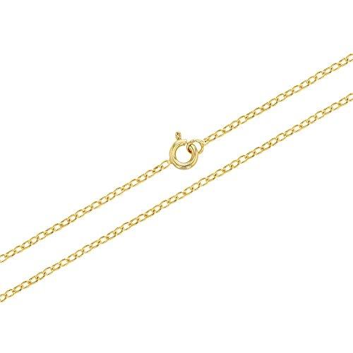 In Season Jewelry - Chapado en Oro 18k Cadena Enlazada Collar Unisex 40cm