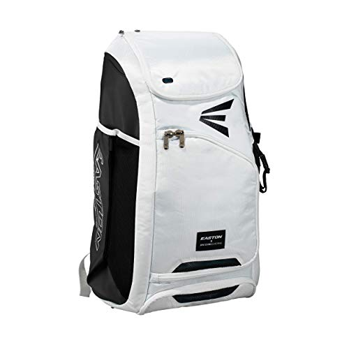 Easton JEN SCHRO Edition Softball Catchers Bat and Equipment Backpack | 2021 | White | Female Inspiration Lining | Vented Main Gear Compartment | 2 Bats Sleeves | Side Leg Guard Pockets | E700CBP