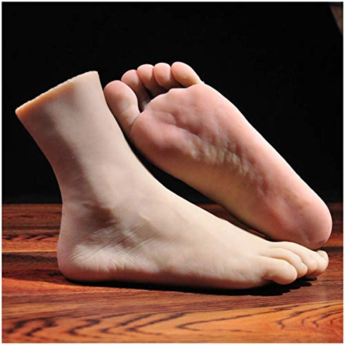 ALBB 1 Par De Silicona Lifesize Hombre Mannequin Pie Exhibición Jewerly Sandalia Calcetín Pantalla Fotografía Props Arte Sketch