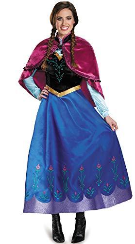 fixiyue Halloween Traje Hielo-Hielo Extraño Borde Cosplay Anime Anna Falda Juego De rol Queen Vestido De Actuación XXL Color de la Imagen