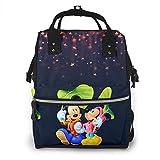 Bolsa de pañales - Mickey y Minnie Under The Stars multifunción impermeable mochila de viaje maternidad pañales cambiantes bolsas