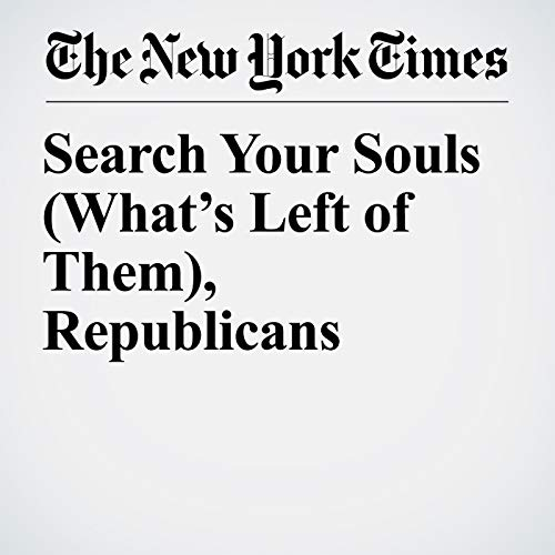 Search Your Souls (What's Left of Them), Republicans copertina