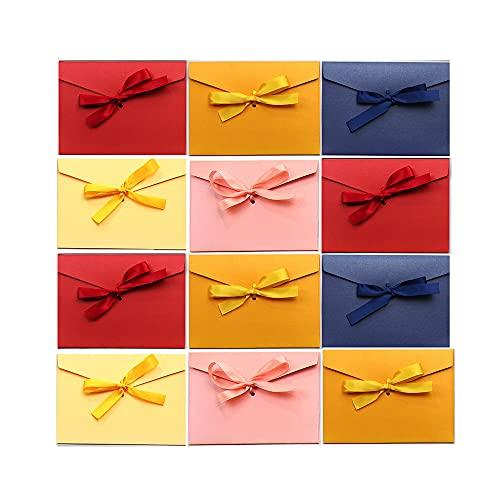 20 Sobres Regalo Papel Boda Vintage para Cartas Felicitacion Invitacion Cumpleaños Tarjeta Visita Fiesta Comunion Oficina Multicolor Retro Sobres Kraft Nacarado